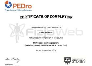 PEDro_fizjoweb_certyfikat